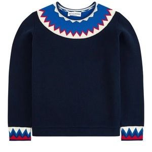 Sonia Rykiel Blue Sweat Top for Girls Size 12Y